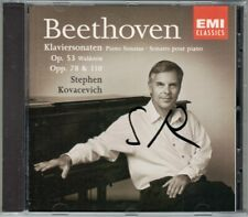 Stephen KOVACEVICH Signed BEETHOVEN Piano Sonata 21 Waldstein 24 31 CD Autogramm