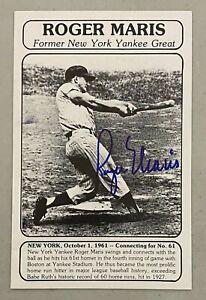 Roger Maris Signed 5x7 Photo Card Autographed JSA GRADED 9 Autograph LOA Yankees