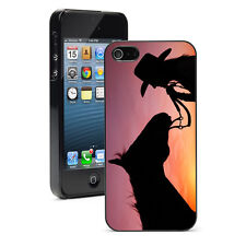 For iPhone X XS Max XR 6 6s 7 8 Plus Hard Case Cover 903 Cowgirl Horse Sunset