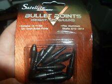 "12 11/32"" 125 grain Satellite Archery BULLET POINTS MADE IN USA NIB NOS arrows"