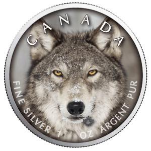 Kanada - 5 Dollar 2019 - Maple Leaf - Wildlife (5.) - Wolf - 1 Oz Silber ST