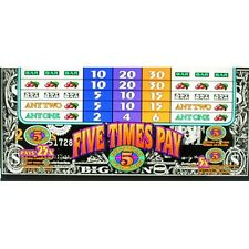 IGT Belly Glass, Five Times Pay Black & White (842-218-00)
