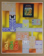 "Atari Adventure Map 24"" x 30"" Poster Video Game RPG Role Playing Skyrim Zelda"