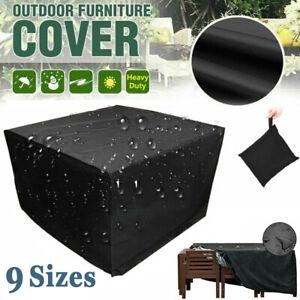 Heavy Duty Furniture Cover Oxford Waterproof Rattan Cube Garden Patio Outdoor UK