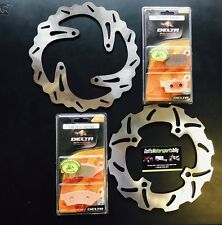 Suzuki RMZ250 2004 2005 2006 Front & Rear Brake Disc Rotor & Brake Pads