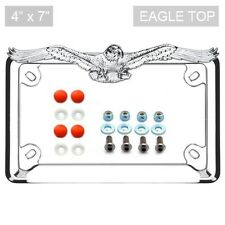 Chrome Eagle License Plate Frame Locking Screw & Cap Kit RED for Motorcycle