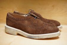 NEW WITH BOX! TRICKERS UK 12 US 13 LONGWING WINGTIP BROWN KUDU REVERSE SUEDE