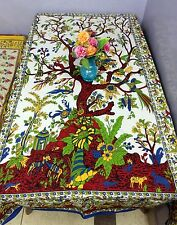 Tablecloth Rectangular Cotton Dining Table Cover Tree Life Kitchen Banquet SC2