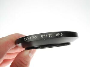 Contax 67/86 Ring 67mm To 86mm Camera Lens Adapter Step Up Ring Made In Japan