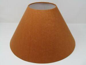 ** SALE ** Empire Tapered Burnt Orange Textured 100% Linen Lampshade Lightshade