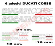Kit 6 adesivi moto ducati corse stickers per carene (argento metallizzato)