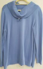 Womens Size 3 Chicos Turtleneck Sweater Lilac Blue
