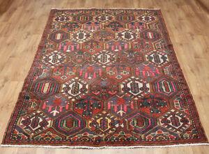 Traditional Vintage Wool 270cmX 152cm Oriental Rug Handmade Carpet Rugs