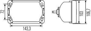 Headlight Insert H4 For John Deere Ihc Mitsubishi Nissan