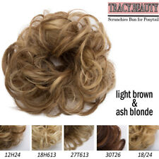 Extra Thick Scrunchies Ponytail Bun Hair Extensions Elastic Wrap Brown Blonde TR