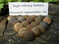 Old Rare Vintage Antique Civil War Relic Eagle I Infantry Button Appomattox Camp