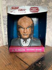 Vintage Star Trek Klingon Saving Bank With Original Box, Next Generation, 1994,