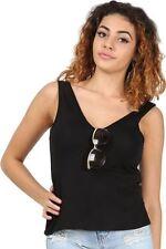 Magliette da donna con scollo a v senza maniche taglia M