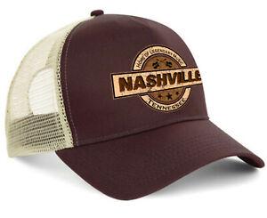 Hellmotors Nashville Trucker Cap V8 Oldschool Baseball Kappe Hot Rod braun Biker