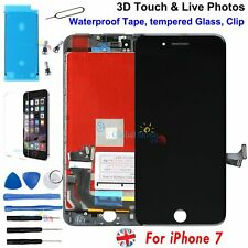 LCD Screen For iPhone 7 Black Digitizer 3D Touch Waterproof adhesive Film Glass