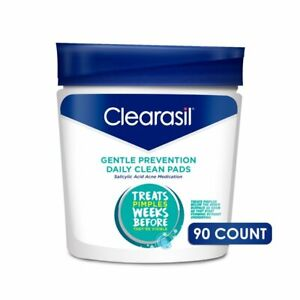 Clearasil Gentle Prevention Dailey Cleansing Pads, 90 ct.Read!