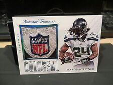 National Treasures Colossal NFL Shield Seahawks Marshawn Lynch 1/1 2015