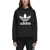 adidas Originals Womens Trefoil Logo Hoodie Overhead Hooded Sweater Hoody Jumper
