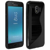 S-Line design soft silicone case for Samsung Galaxy Grand Prime Pro - Black