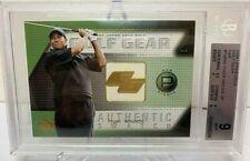 2004 UPPER DECK GOLF GEAR PAR AUTHENTIC SWATCH CARD Tiger Woods SHIRT BGS MINT 9