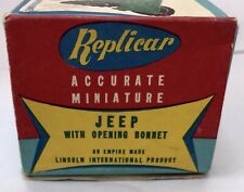 1960s  Hong Kong plastic Lincoln International friction WW2 Willys Army Jeep
