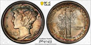 1944-S 10C PCGS MS66FB, Really great toned coin; Beautiful condition