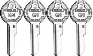67 Chevy GM Oldsmobile Cadillac Pontiac Buick Pear B Key Blanks OEM 4 Set Briggs
