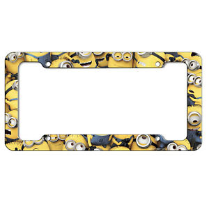 Minions Despicable Me Movie Plastic License Plate frame