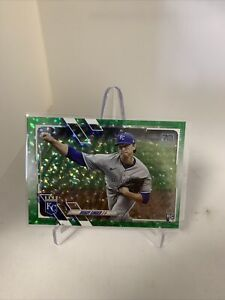 2021 Topps Series 1 Brady Singer RC Green Foil SP # /499 Royals #169