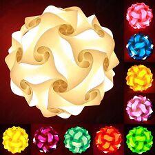 White Jigsaw Lampshade Lamp Shade Retro IQ Fun Gift Idea Self Assembly (Wh