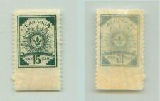 Latvia 1919 SC 20 MNH pelure paper missing perf . f2920