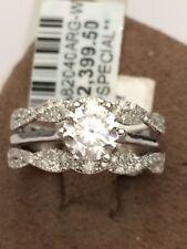 Solitaire Enhancer Jacket Diamonds Ring Guard Wrap 10k Gold White Wedding Band