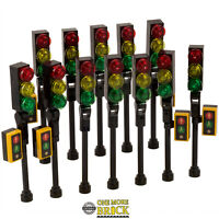 Traffic Lights for City Street / town / road - Pack of 12 | All parts LEGO