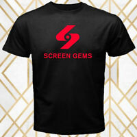 Screen Gems Movie Production House Logo Men's Black T-Shirt Size S - 3XL