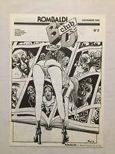 Magazine Rombaldi BD Club N° 5 /  FRANQUIN - PEYO - HERGE / Décembre 1986