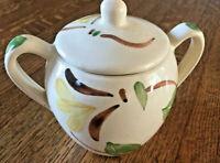 Vintage 1940's Purinton Slipware Yellow Ivy Sugar Bowl Good Condition Small