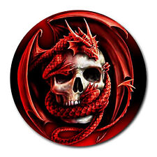 New Apple Mac / PC Mouse Pad Mat Dragon Red Skull Blood