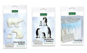 Katy Sue Designs Icicles, Polar Bears & Penguins Christmas Moulds - CHOOSE