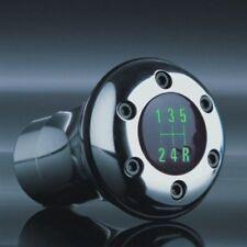 Schaltknauf GP LUX GREEN - Chrom - LED grün - zwei 5-Gang-Embleme - universal