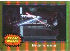 Star Wars JTTFA Gold [##/50] Parallel Base Card #36 Master vs. Master