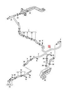 Genuine AUDI A6 Avant S6 quattro Coolant Pipe Right Rear 4G0121485BE