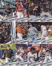 2017 TOPPS UPDATE MIAMI  MARLINS team set (12 cards) RIDDLE RC
