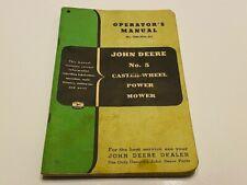 Vintage John Deere Operators Manual - No. 5 Caster-Wheel Power Mower