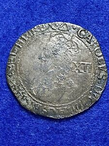 Charles 1st 1625-1649 Shilling, mm triangle tower mint