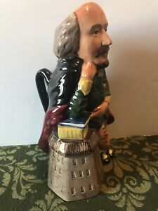 Staffordshire Fine Ceramic William Shakespeare Character Jug England #650 Toby